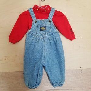 Vintage OshKosh Overalls Size 6-9 Months